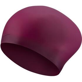 Nike Swim Solid Gorro Silicona Cabello Largo, rosa
